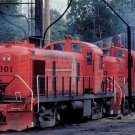 Michigan Interstate ALCO RS2 Switchers Postcard railroad train