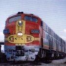 "Santa Fe ""Chief"" F7 Warbonnets postcard railroad passenger train"