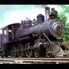 Warren & Ouachita Valley postcard 4-6-0 Baldwin steam locomotive train railroad