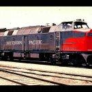 Southern Pacific Krauss-Maffei SP #9002 postcard diesel locomotive train railroad