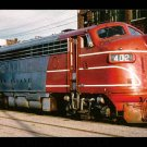 Rock Island FP7 #402 postcard diesel locomotive train railroad