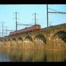 Pennsylvania RR MP54 Electric postcard train railroad Bridge Delaware River