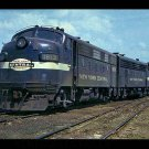 New York Central EMD F7A #1813 postcard diesel locomotive train railroad