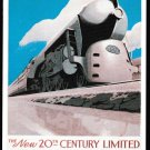 20th Century Limited, NYC poster postcard by Dalkeith