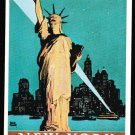 New York Central Statue of Liberty poster postcard by Dalkeith