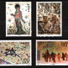 Wall Paintings mnh set of 4 stamps 1992-11 China #2407-10