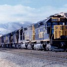Santa Fe postcard EMD SD45 #5613 diesel locomotive train railroad a12