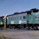 Burlington Northern F7 #682 diesel locomotive railroad a15