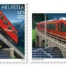 Switzerland Trains 2010 mnh set of 2 stamps, mnh #1385-6 Funicular railway