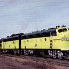 Chicago & Northwestern Railway postcard EMD F7 #400 diesel locomotive railroad a22