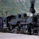 Rio Grande narrow gauge steam postcard locomotive railroad a28