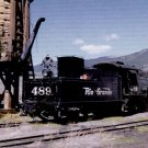 Rio Grande narrow gauge steam Mikado #489 postcard locomotive railroad a29