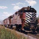 Lehigh Valley GP38-2 #323 postcard locomotive train railroad a44