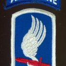 173rd Airborne Brigade Patch with TAB, full color, mint condition