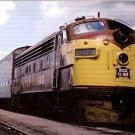 Rock Island Railroad F7 #676 postcard train railroad a58
