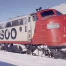 Soo Line F7 #2202-A postcard train railroad a60