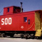 Soo Line Caboose #224 postcard train railroad a59