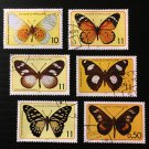 Butterflies cto set of 6 stamps 1979 St. Thomas & Prince
