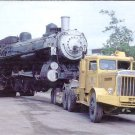 Union Pacific 4-6-2 steam locomotive #3206 on a tow truck postcard train railroad a69