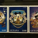 Nautical Mickey Mouse Disney mnh strip of 3 stamps 1996 Guyana #3092