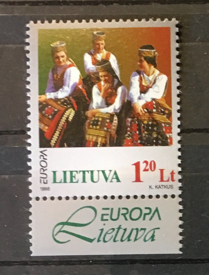 National Song Festival mnh stamp 1998 Lithuania #598 Music Europa