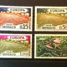 Monaco Wheat Harvest mnh set of 4 stamps 1962 Mercury map of Europe