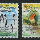Birds Swallows Robin 2 mnh stamps 1986 Liechtenstein Nature Conservation
