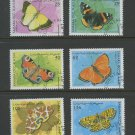 Butterflies set of 6 cto stamps 1997 Western Sahara