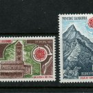 Church Castle Horse Charlemagne Europa mnh set 2 stamps 1978 French Andorra #262-3