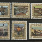 Year of Coffee production 6 stamps 1975 Rwanda #699-704