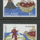Voyages of St. Brendan mnh set of 2 stamps 1994 Iceland #780-1