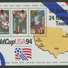World Cup 1994 mnh souvenir sheet USA #2837  Soccer Football