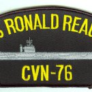 USS Ronald Reagan CVN-76 embroidered patch, unused, 6 inch