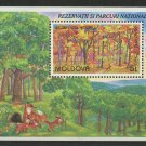 Fox Rabbit National Park Codru Nature Reserve mnh Souv. Sheet 1999 Moldova #303