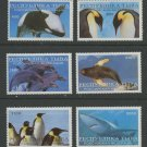 Whale Dolphin Penguins Shark mnh set of 4 stamps Tuva Rpublic
