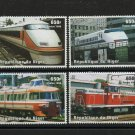 Trains Locomotives mnh set of 4 stamps 1996 Niger