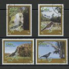 Birds Scenic Locales cto set of 4 stamps 1997 Cuba #3861-4 Waterfall