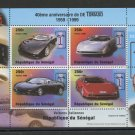 De Tomaso Automobiles 40 years Miniature Sheet 1998 Senegal #1346
