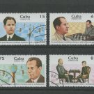 Chess World Champion José Raúl Capablanca cto set of 4 stamps