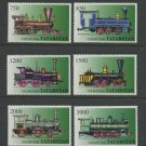 Trains Steam Locomotives mnh set of 6 stamps Tatarstan