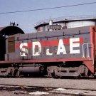 San Diego & Arizona Eastern SW8 Switcher #1126 train railroad postcard b3