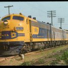 AT&SF Santa Fe F9 #287-C Yellowbonnet train railroad postcard b7