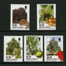 Trees Fruit set of 5 mnh stamps 2009 Montserrat #1227-32