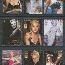 Marilyn Monroe mnh set of 9 stamps 2001 Somalia