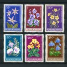 Flowers mnh set of 6 stamps 1979 Romania #2824-9