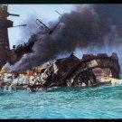WWII German Battleship Graf Spee Scuttled Postcard Unposted