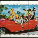 Drunken Dogs Joy Ride MNH Mini Sheet of 8 Stamps Batum