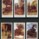 Early Steam Locomotives Trains MNH Set of 6 Stamps Tuva Railway