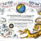 Coast Guard Domain of the Golden Dragon Certificate unused mint, from the US Naval Institute
