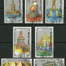 Seven Wonders of the Ancient World Set of 7 CTO Stamps 1990 Mongolia